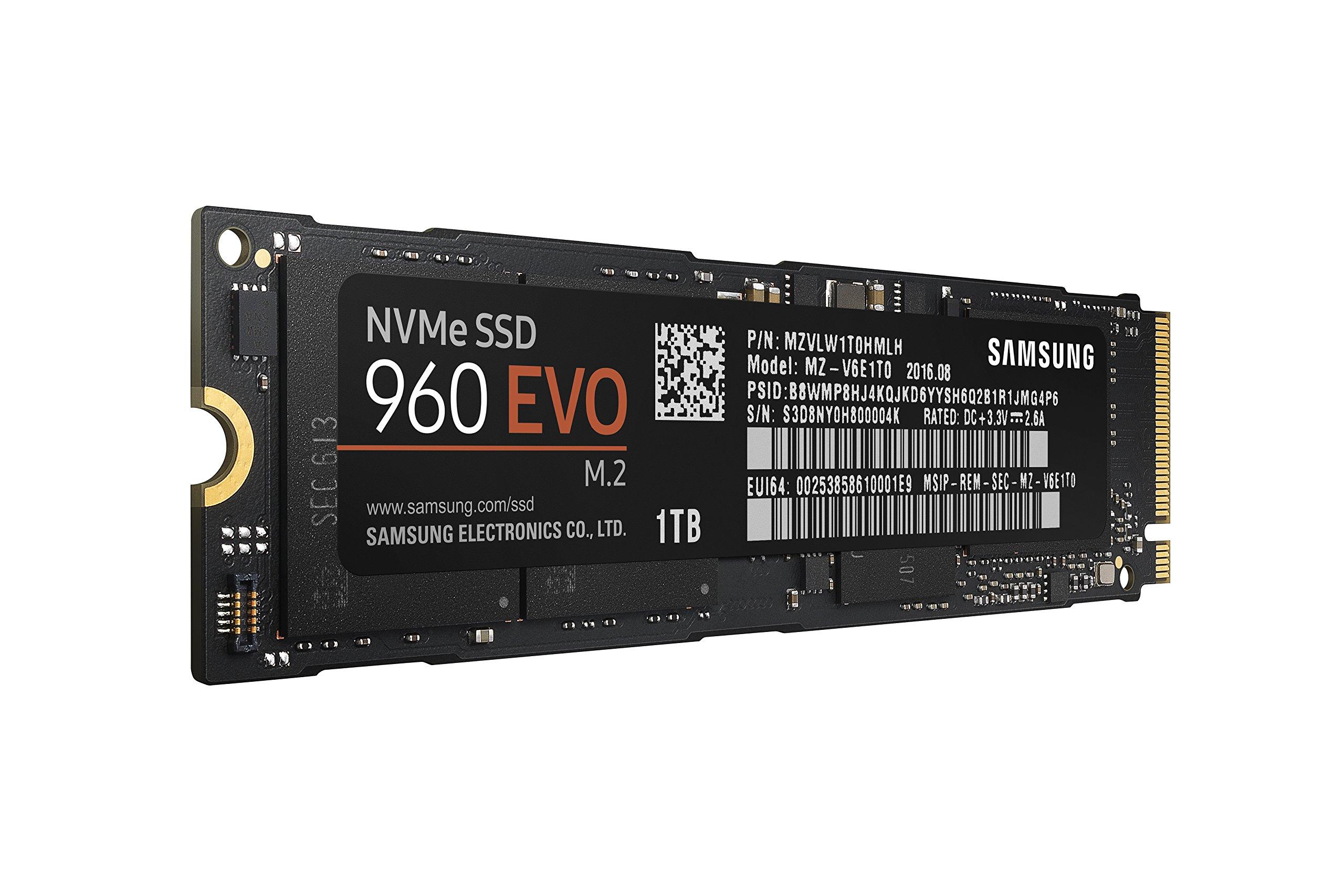 Samsung 960 EVO Series - 1TB PCIe NVMe - M.2 Internal SSD (MZ-V6E1T0BW) by Samsung (Image #1)