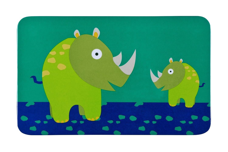 L/ÄSSIG Kinder Fr/ühst/ücksbrettchen Essensbrettchen Melamin rutschfest//Breakfast Board Wildlife Rhino