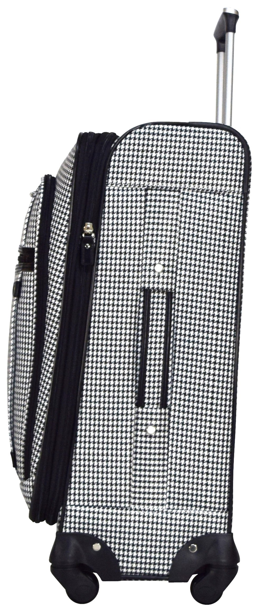 Nicole Miller New York Taylor 24'' Expandable Spinner Suitcase (Black/White Plaid) by Nicole Miller New York (Image #3)