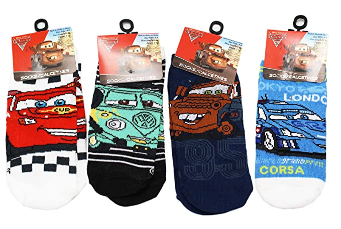 Disney Pixars Cars Assorted Character Sock Collection (3 Pairs, ...