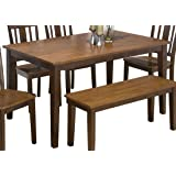 Jofran Rectangle Casual Dining Table in Kura Espresso and Canyon Gold Finish