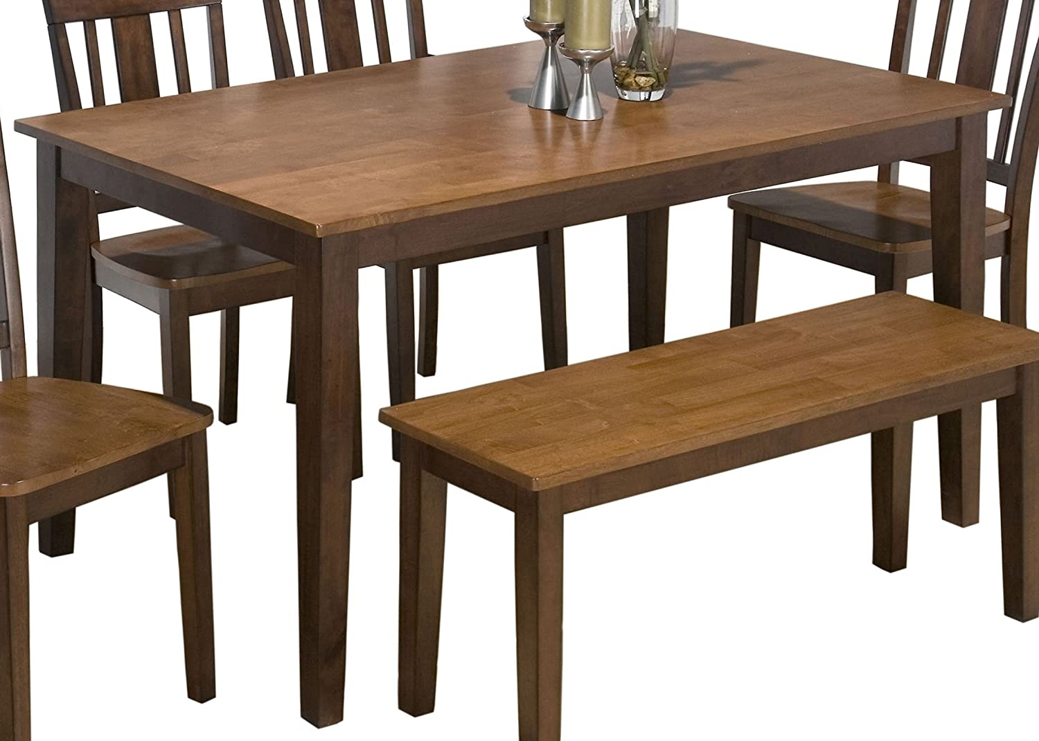 Jofran Rectangle Casual Dining Table in Kura Espresso and Canyon Gold