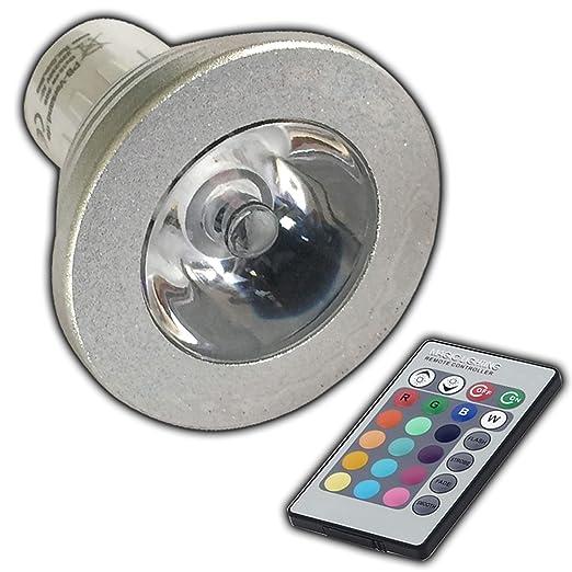 Gu10 Rgb Led Farbwechsel Lampe 4 Watt Mit Fernbedienung Farblicht Lampe Strahler Gluhbirne Birne Leuchtmittel Spot