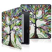 Capa para Kindle Oasis 2 - FIT, leve, fecho magnético (Árvore Colorida)