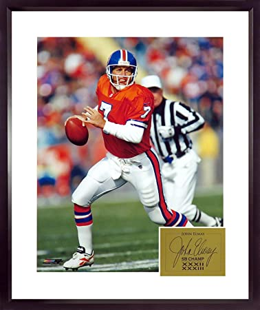 "7b049fd90 Amazon.com  Denver Broncos John Elway ""Classic Orange"" 16x20 ..."