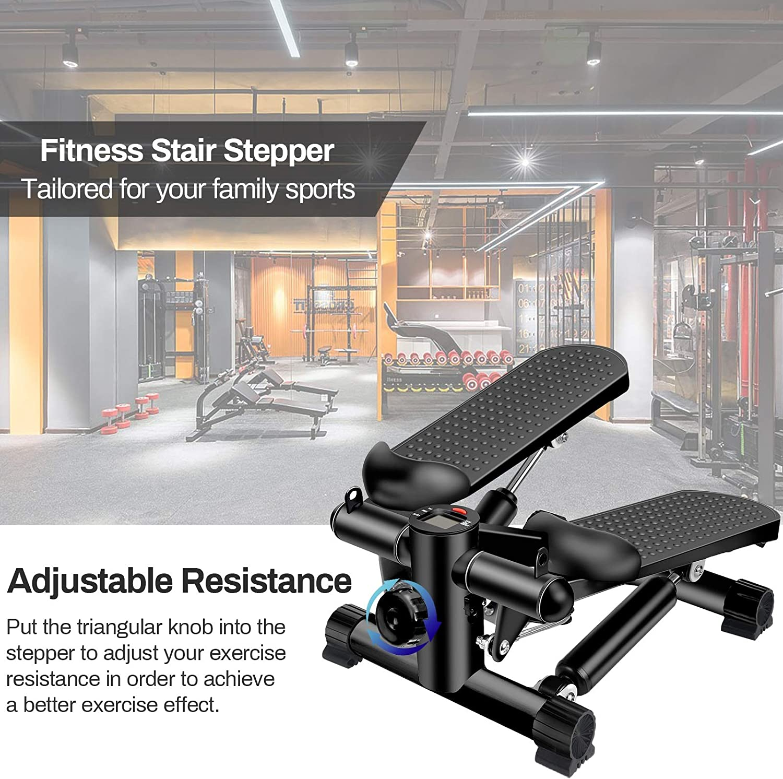 stepper per la casa stepper per il fitness scala regolabile BSET BUY Mini stepper Twister Stepper con Power Ropes display LCD