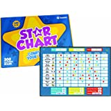 Star Chart for Kids – Magnetic Rewards Chore Chart for Responsibility, Good Behavior and Potty Training – For Toddlers, Boys and Girls – Includes 20 Magnetic Chores and 300 Stars. 12 x 17