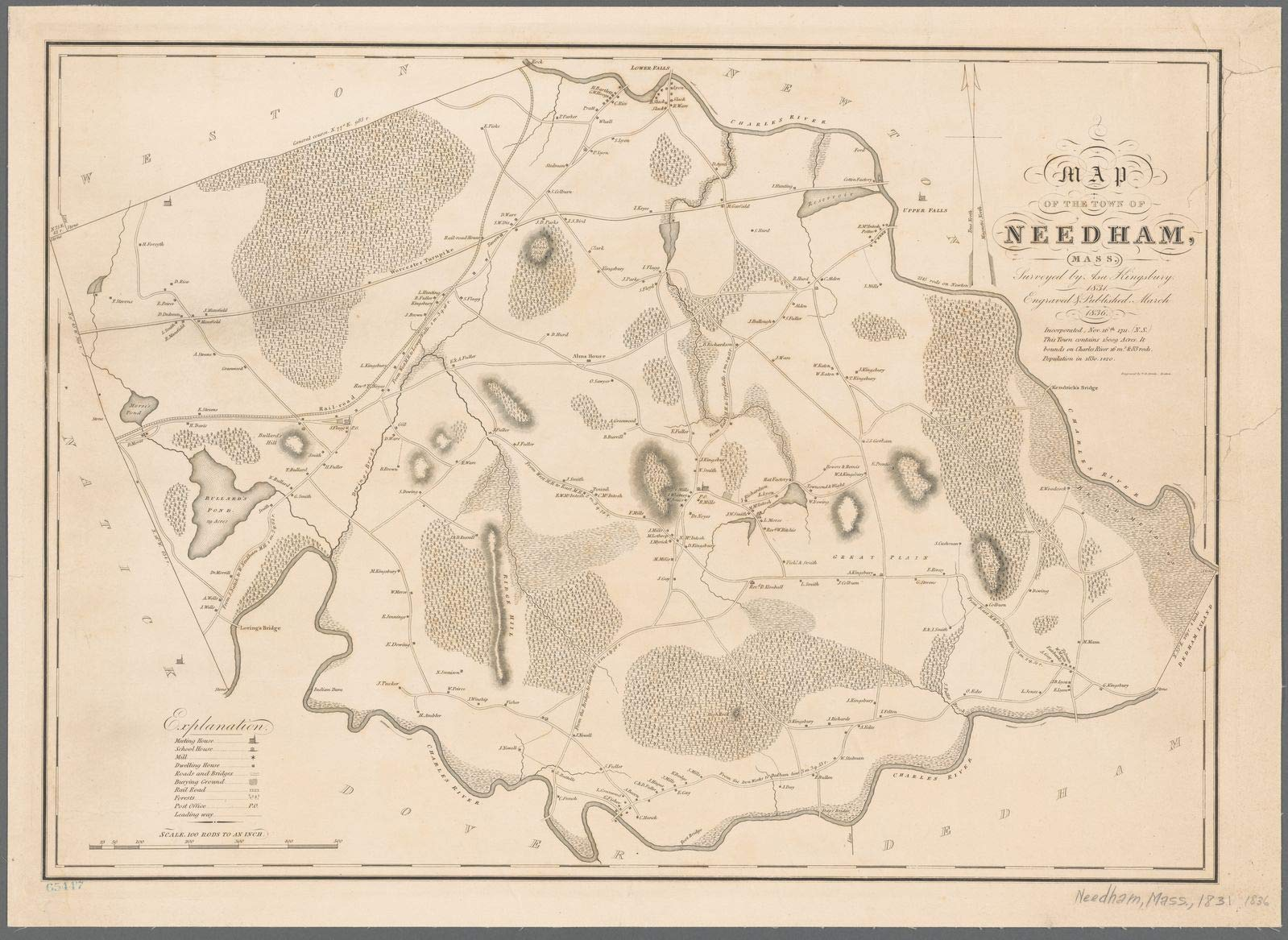 Vintography Reprinted 18 x 24 1836 Map of Boston, Mass. Nova Suecia, Eller The Swenska Revier Now Delaware River in India Occidentalis Publisher not identified 0 0 64a
