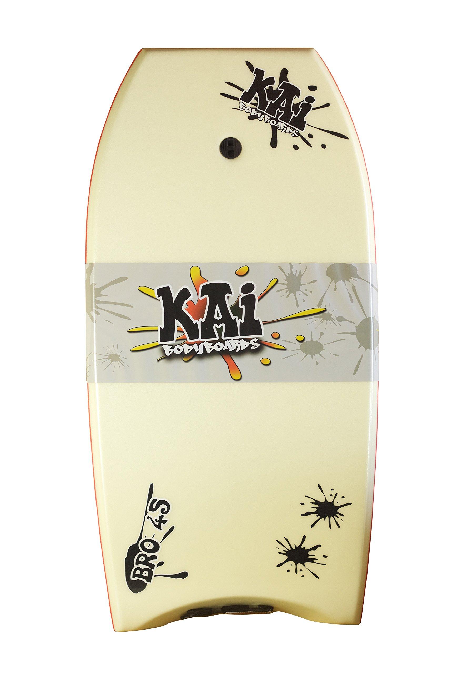 Kai Bodyboards Bro 45'' (White w/Red Rails)