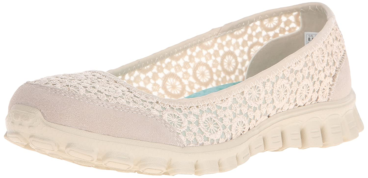 Skechers Sport Women's EZ Flex Flighty Majesty Slip-on Flat B014EY5B24 6.5 B(M) US|Natural Flighty