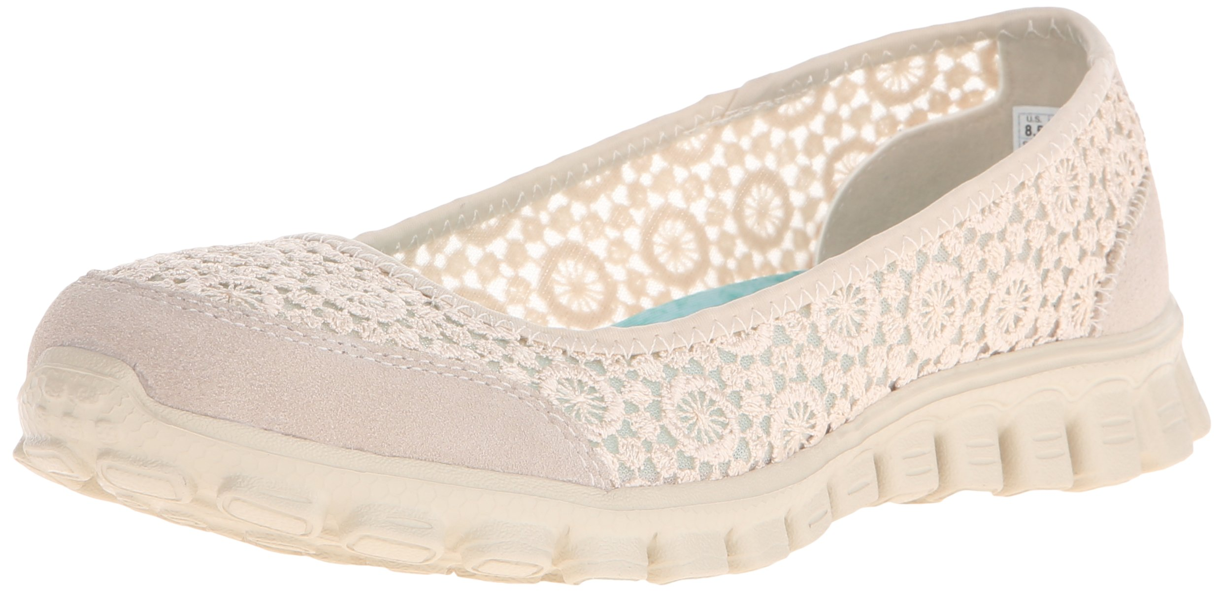Skechers Sport Women's Ezflex 2 Flighty Flat,Natural Flighty,9.5 M US
