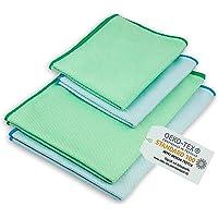 ELEXACLEAN Raamdoek streepvrij, microvezel raamdoek (4 stuks, 60x40 cm & 40x30 cm) Oeko-TEX® Standard 100 - glazen…