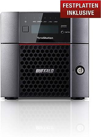 TALLA 16 TB (2x8TB). Buffalo TeraStation 5210DN Ethernet Escritorio Negro NAS - Unidad Raid (16 TB, Unidad de Disco Duro, Unidad de Disco Duro, Serial ATA III, 8000 GB, 2.5