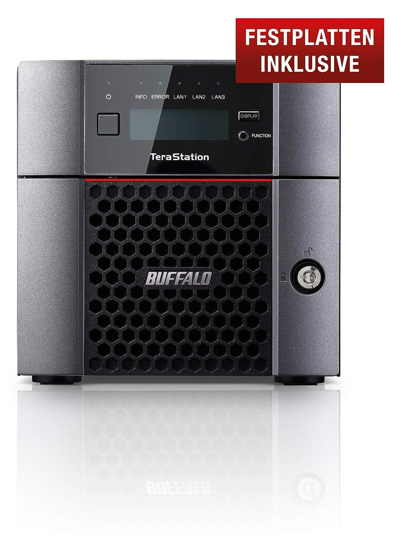 Buffalo TeraStation 5210DN Ethernet Escritorio Negro NAS - Unidad Raid (16 TB, Unidad de Disco Duro, Unidad de Disco Duro, Serial ATA III, 8000 GB, 2.5