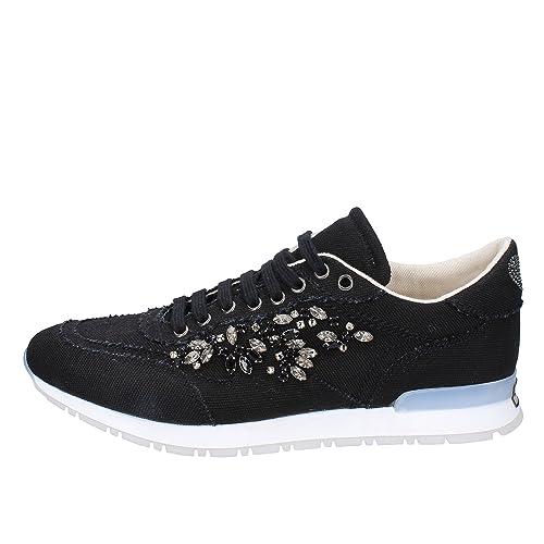 99c57db6b0f Twin-Set Sneakers Mujer Textil Negro  Amazon.es  Zapatos y complementos