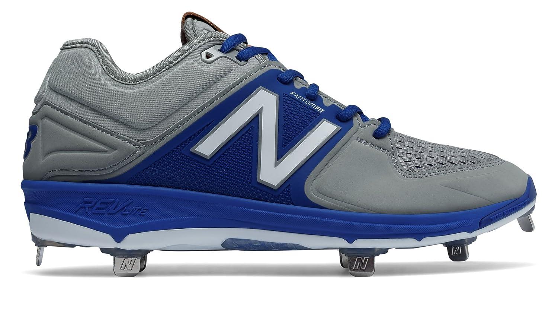 (ニューバランス) New Balance 靴シューズ メンズ野球 Low-Cut 3000v3 Metal Cleat Grey with Blue グレー ブルー US 12 (30cm) B01N3Q58XY