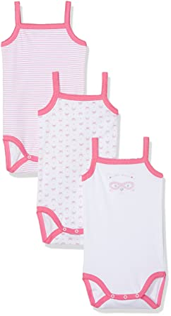 Alphabet 3 Bretelle - lot e 3 - Body Bébé - Fille - Blanc (Blanc) - 6 mois  67 cm  Amazon.fr  Vêtements et accessoires 225f47c5212