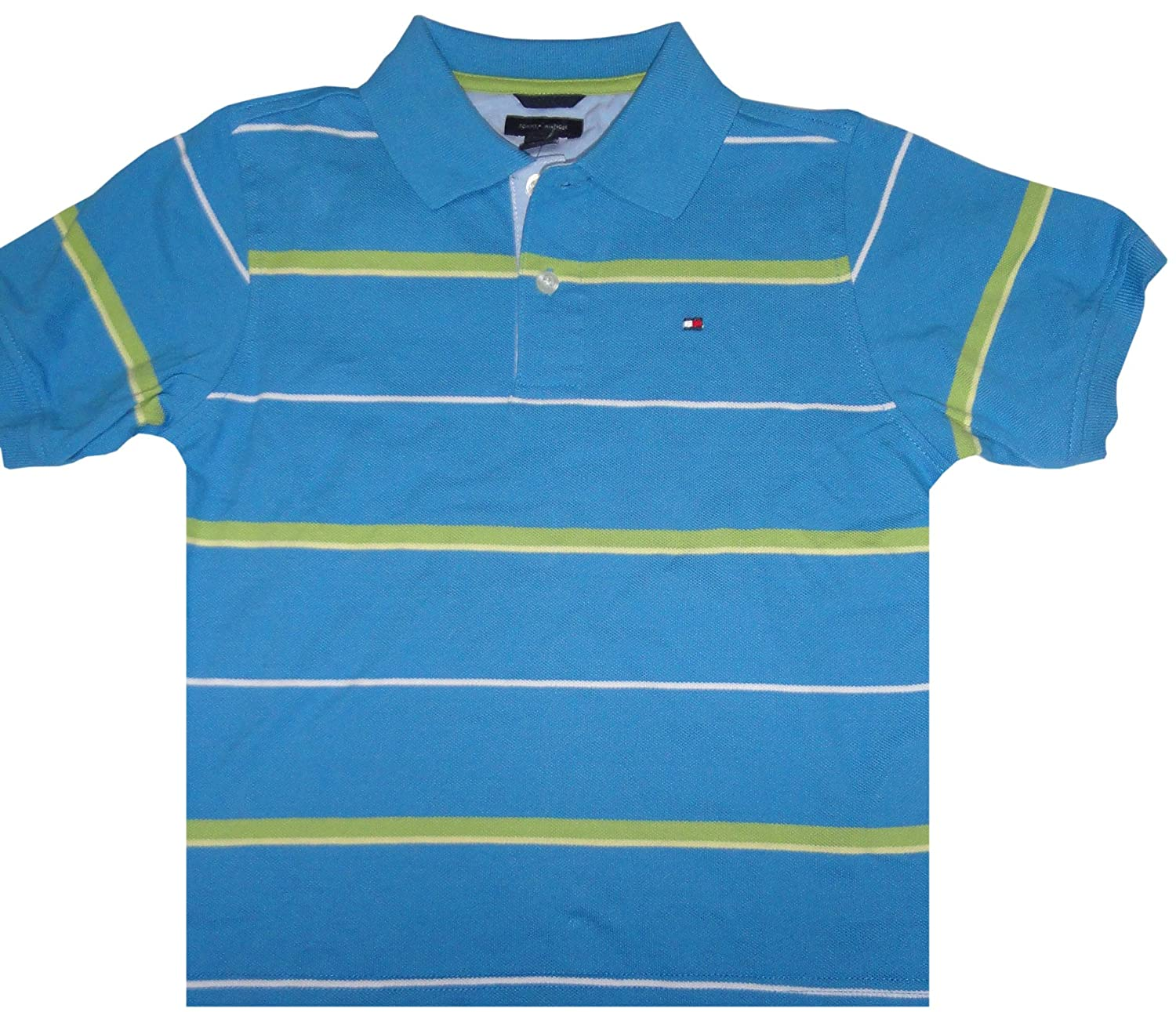 a5fb3e7a Amazon.com: Tommy Hilfiger Boys Short Sleeve Polo Shirt Rio Grande Blue, 7:  Clothing