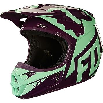 2018 Fox V1 Race casco verde, Fox V1 Rac, verde