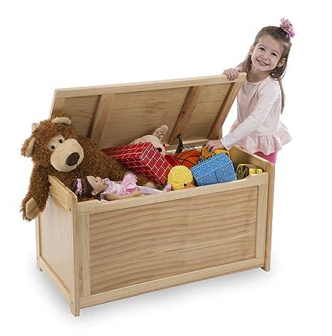 Amazon.com: Melissa & Doug Toy Chest - Wood Grain Children\'s ...