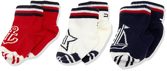 Tommy Hilfiger TH Baby Newborn GIFTBOX 3P, Calcetines Unisex bebé, Multicolor (Midnight Blue