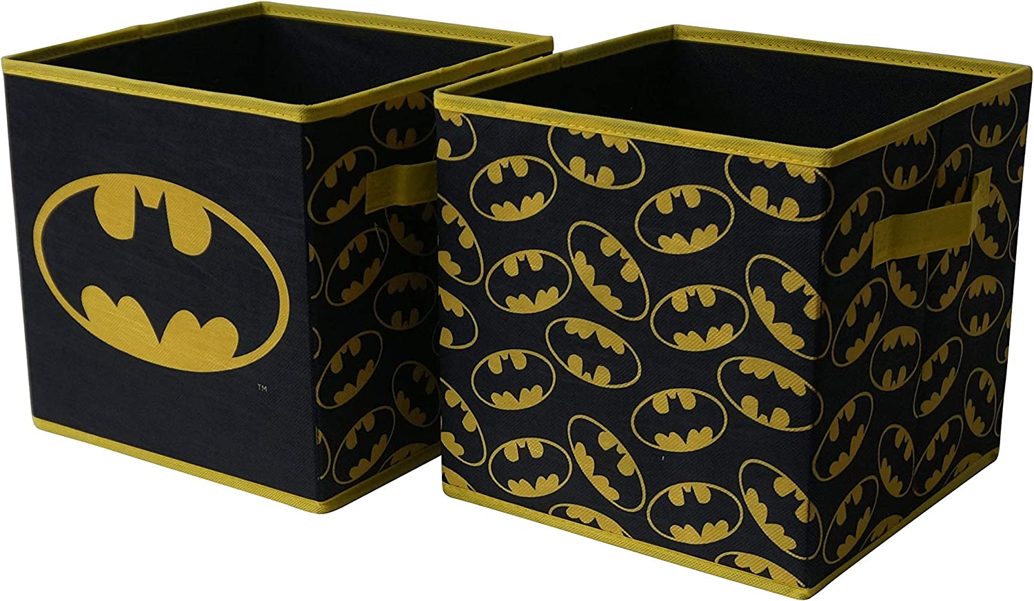 Batman Collapsible Storage Cube, Black (Pack von 2)