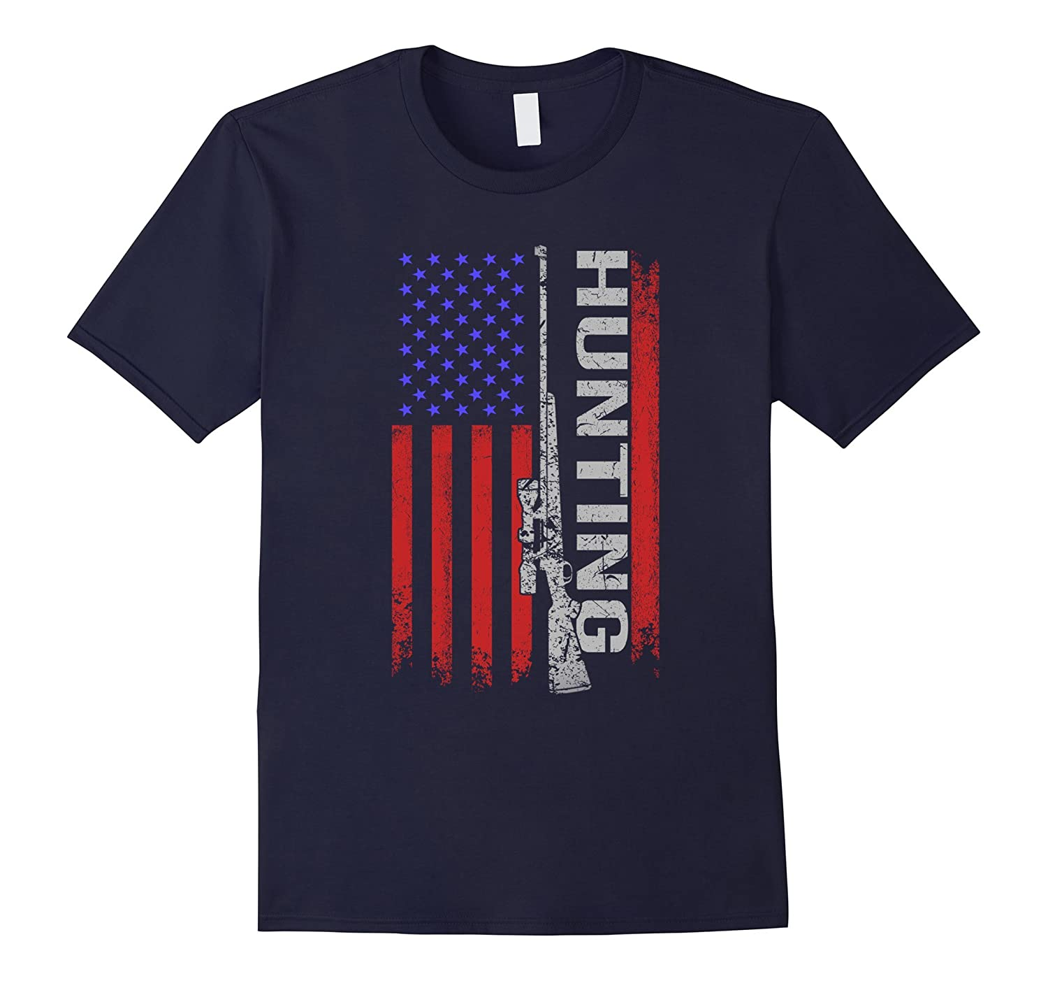 4th of July hunting Shirt Patriotic American Flag T-Shirt