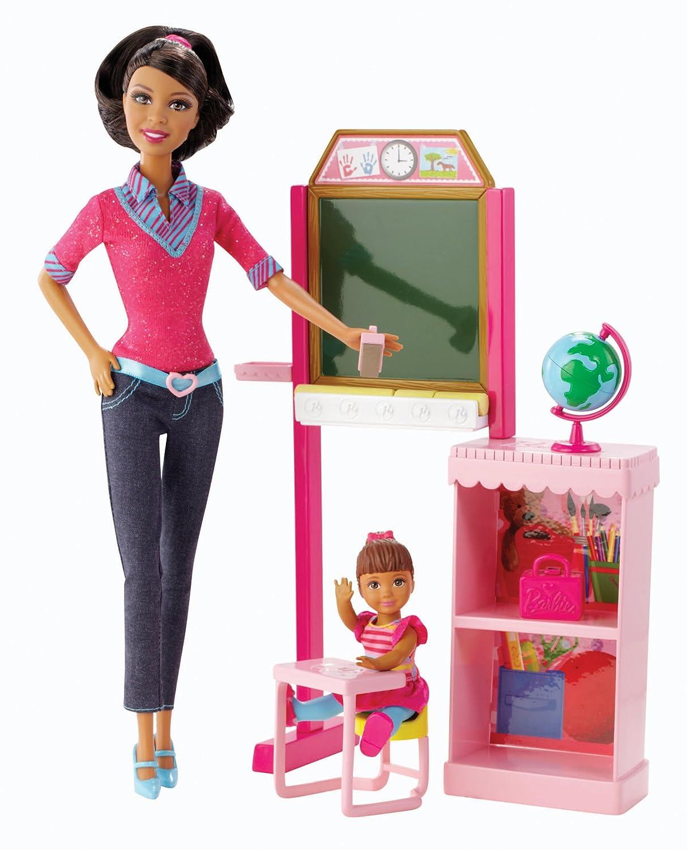 Barbie Careers Teacher AfricanAmerican Doll Playset