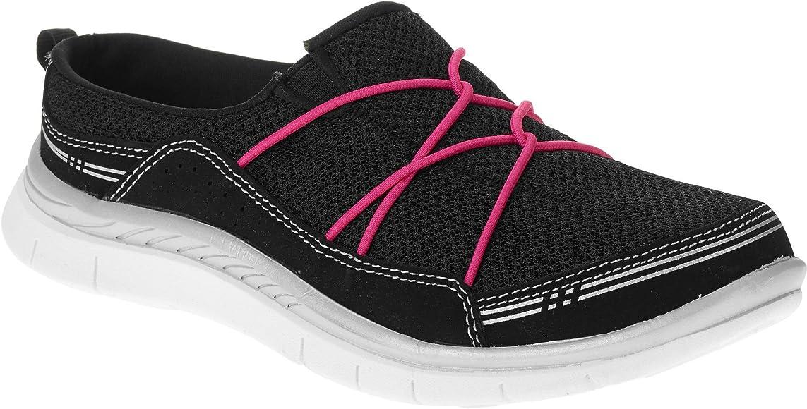 Mule Pilates Shoes with Fuschia Ties