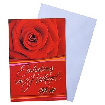 Horn 91 H2714 Einladung Hochzeit Ohne Innentext Amazon De
