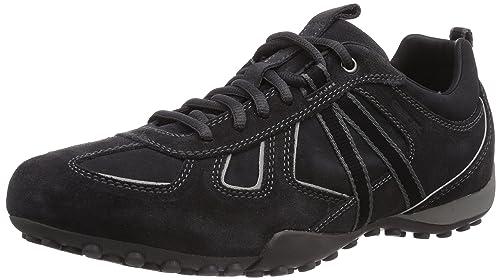 Geox Uomo Snake E, Zapatillas para Hombre, Marrón, 44 EU