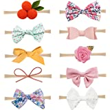 Baby Girl Headbands and Bows Nylon Hairbands Hair Bow Accessories for Newborn Infant Toddler Girls