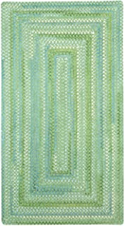 "product image for Capel Waterway Green 0' 24"" x 0' 36"" Concentric Rectangle Braided Rug"