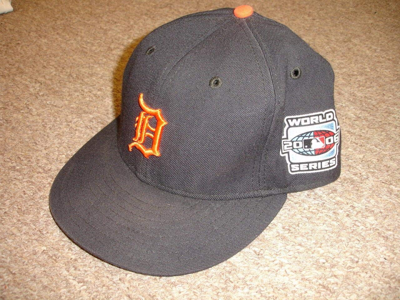 2006 Rafael Belliard Detroit Tigers Game Used World Series Coaches Hat w/Patch Game Used MLB Hats
