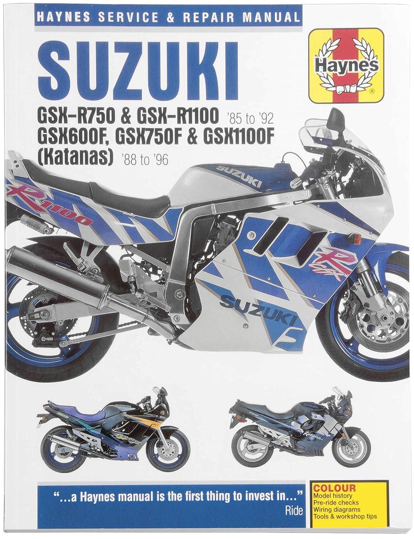 amazon com: haynes manuals manual suz gsxr750/r1100 85-96 manuals & videos  haynes manualssuzuki gsxr750/r1100 85-96 - m2055: automotive