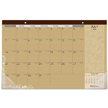 Desk-Sized December 2020 Calendar Amazon.: Kraft Desk Calendar 2019 2020 | 18 Months (July 2019
