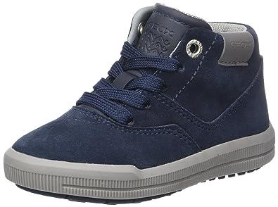Geox Jungen J Alonisso Boy F Hohe Sneaker, Schwarz (White/Black), 29 EU
