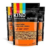 KIND Healthy Grains Clusters, Peanut Butter Whole Grain Granola, 10g Protein, Gluten...