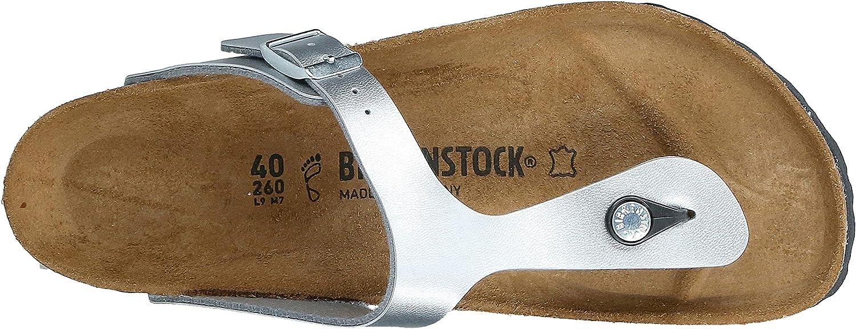 Birkenstock Gizeh 812 UK223, Damen Sandalen Silber Silber