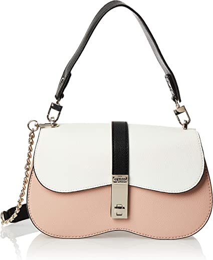 GUESS Asher Shoulder Bag, Rose Multi: Handbags: