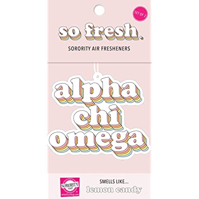 Alpha Chi Omega - Retro Air Freshener - 2/Pack: Kitchen & Dining