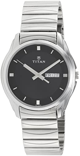 44c2f5bb7f8 Image Unavailable. Image not available for. Colour  Titan Karishma Analog  Black Dial Men s Watch ...