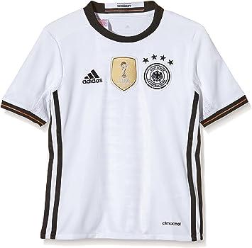 adidas DFB H JSY Y - Camiseta para niño, Color Blanco/Negro: Amazon.es: Zapatos y complementos