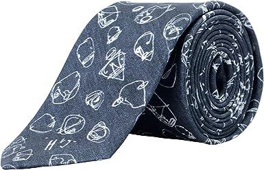 Black Hugo Boss Mens Neat Square Print Italian Silk Tie OS