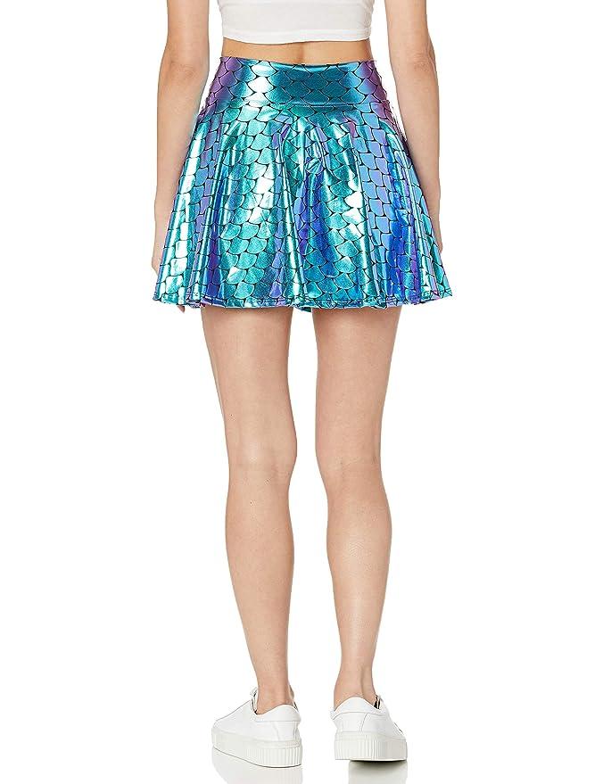 Peridot Clothing Falda holográfica de Sirena - Azul - Large ...