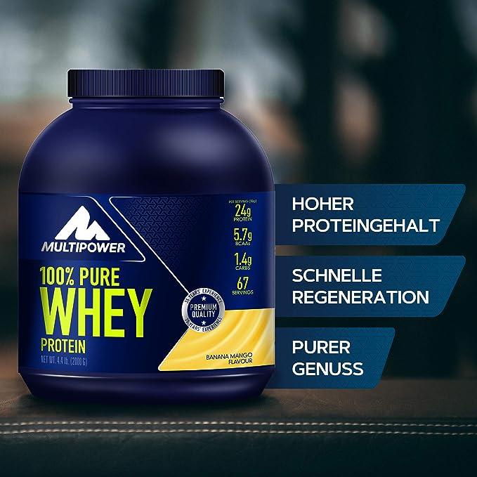 Multipower 100% Whey Protein Banana Mango - 2000 gr