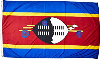 product image for Annin Flagmakers Model 197920 Swaziland Flag Nylon SolarGuard NYL-Glo, 5x8 ft, 100% Made in USA to Official United Nations Design Specifications