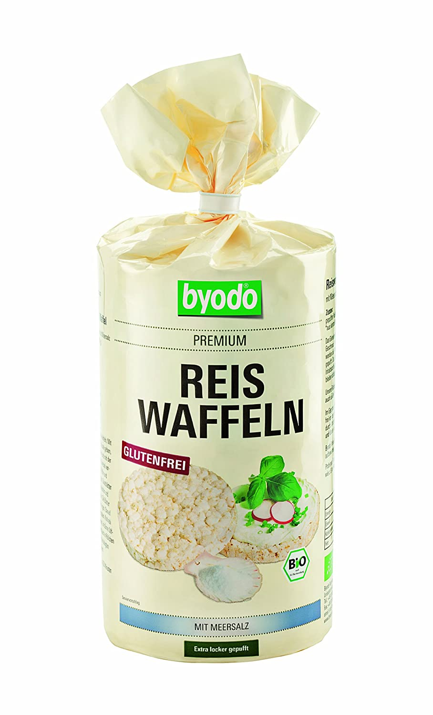 Byodo Reiswaffeln ohne Salzzusatz, 1er Pack (1 x 100 g Packung) - Bio 25020 Biodo Zöliakie Gluten Kindernahrung Clean Eating