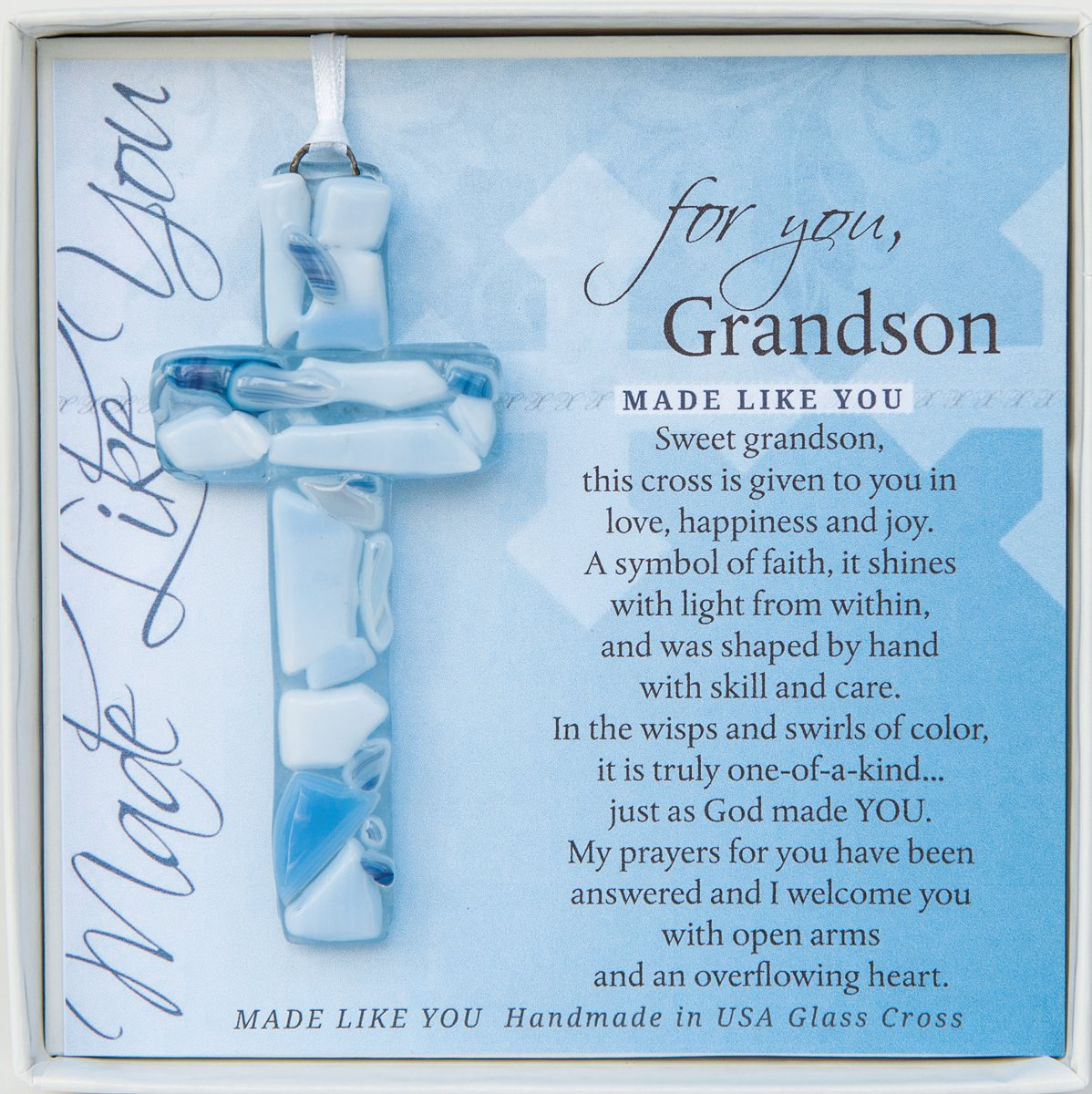 For You, Handmade Mosaic Glass Cross With Loving Sentiments Perfect Christian Gift For Granddaughter (Granddaughter) The Grandparent Gift Co.