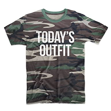 b539ff6ee9b8 Amazon.com  Today s Outfit Camouflage Men s T-Shirt Camo  Clothing